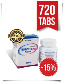 Tenvir-EM by Cipla 720 Pills