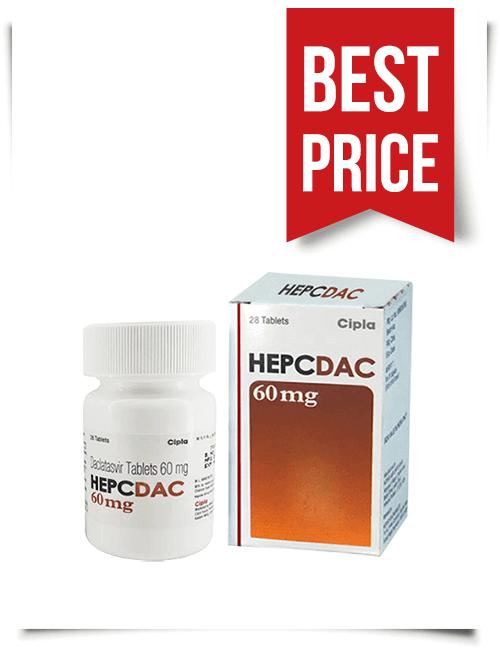 Buy Hepcdac Online Cheap Generic Daklinza from India