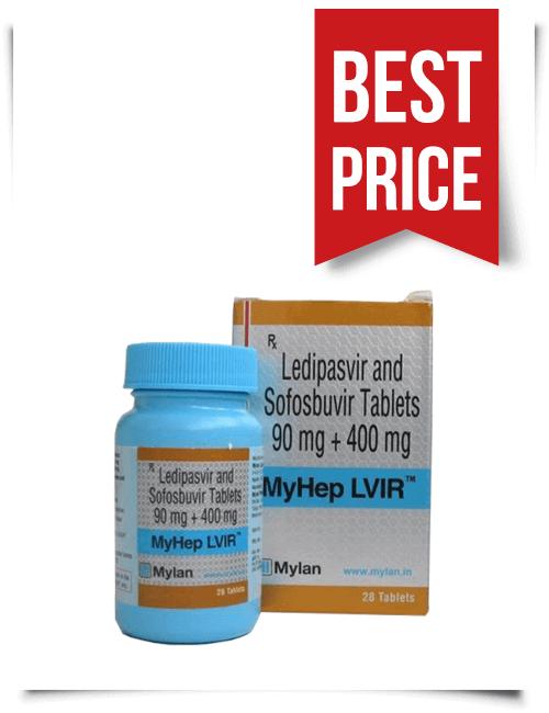 Buy MyHep LVIR Online Ledipasvir plus Sofosbuvir Tabs