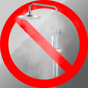 Avoid hot shower